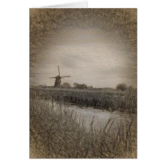 Dutch Windmill Greeting Card