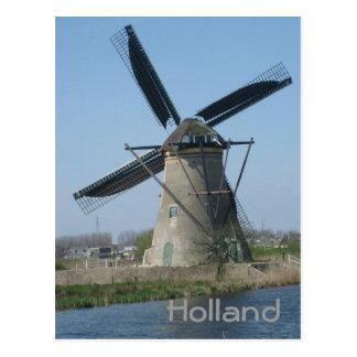 Dutch windmill postcard