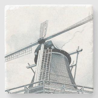 Dutch windmill stone coaster