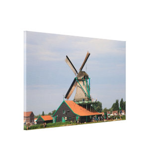 Dutch windmill village, Holland 3 Canvas Print