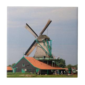 Dutch windmill village, Holland 3 Ceramic Tile