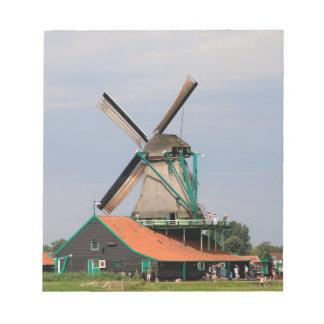 Dutch windmill village, Holland 3 Notepad
