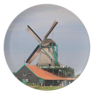 Dutch windmill village, Holland 3 Plate