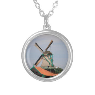 Dutch windmill village, Holland 3 Silver Plated Necklace