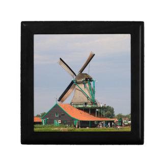 Dutch windmill village, Holland 3 Small Square Gift Box