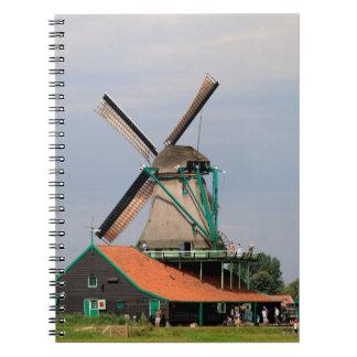 Dutch windmill village, Holland 3 Spiral Notebook