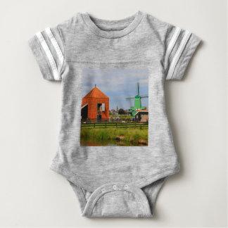 Dutch windmill village, Holland 4 Baby Bodysuit