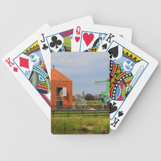 Dutch windmill village, Holland 4 Bicycle Playing Cards