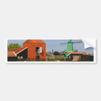 Dutch windmill village, Holland 4 Bumper Sticker