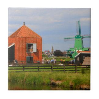 Dutch windmill village, Holland 4 Ceramic Tile