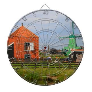 Dutch windmill village, Holland 4 Dartboard