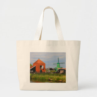 Dutch windmill village, Holland 4 Large Tote Bag