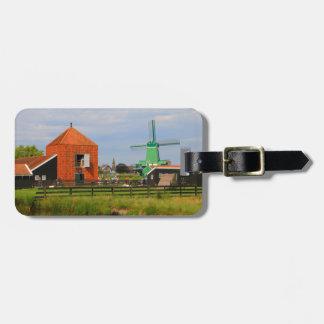Dutch windmill village, Holland 4 Luggage Tag