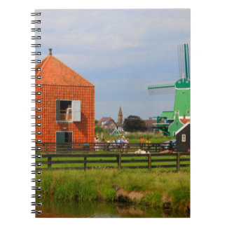Dutch windmill village, Holland 4 Notebook
