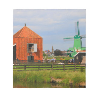 Dutch windmill village, Holland 4 Notepad