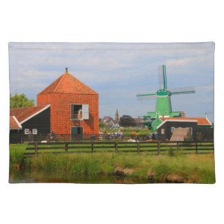 Dutch windmill village, Holland 4 Placemat