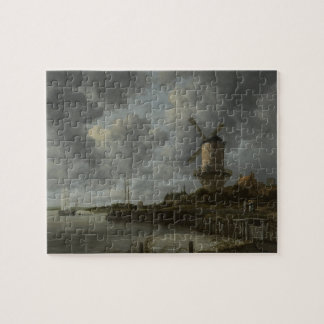 Dutch windmill Wijk bij Duustede, Ruisdael Jigsaw Puzzle