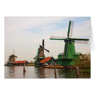 Dutch Windmills, Zaanse Schans. Card
