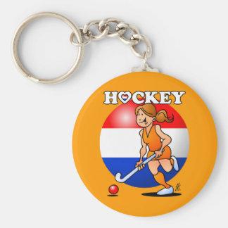 Dutch women's hockey team key ring