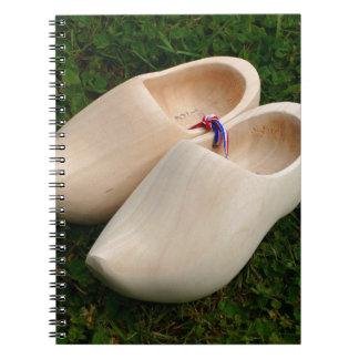 Dutch wooden clogs notebooks