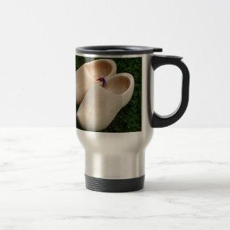Dutch wooden clogs travel mug