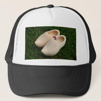 Dutch wooden clogs trucker hat