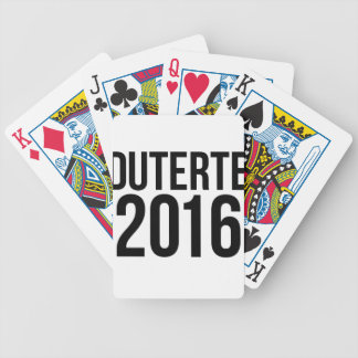 Duterte 2016 bicycle playing cards