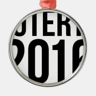 Duterte 2016 Silver-Colored round decoration
