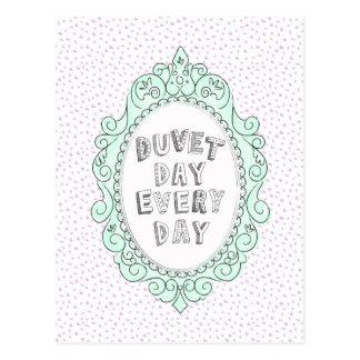 Duvet Day Postcard