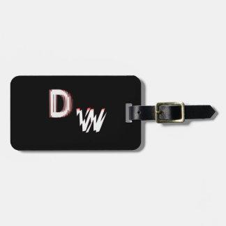 DW LOGO: Luggage Tag w/ leather strap