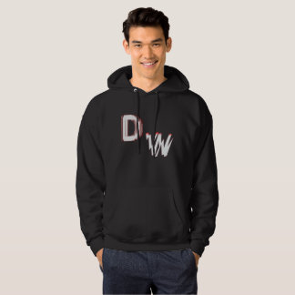 DW LOGO:Men's Basic Hooded Sweatshirt
