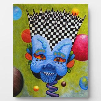 """Dwainizms Colorful """"Blue Man"""" 8x10 Plaque w/Easel"""
