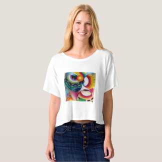 "Dwainizms ""Eye Candy"" Boxy Crop Top"