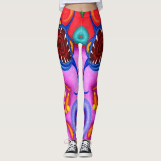 """Dwainizms """"Party Poopers"""" Colorful Leggings"""
