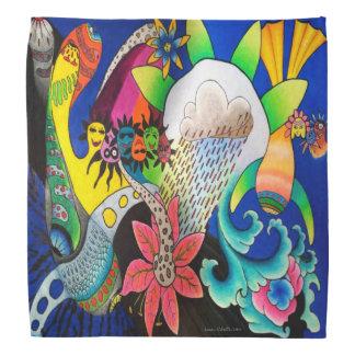 "Dwainizms ""Rain Flower"" Colorful Bandana"