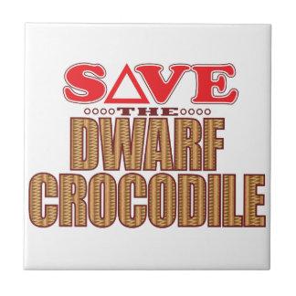 Dwarf Crocodile Save Small Square Tile