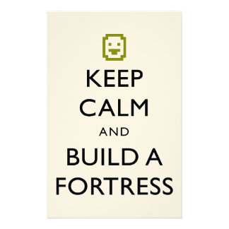 Dwarf Fortress Keep Calm and Build a Fortress Item Customized Stationery