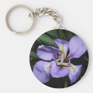 Dwarf Iris Basic Round Button Key Ring