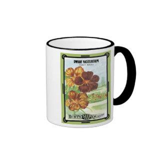 Dwarf Nasturtium Fancy Mixed Burt's Seeds Ringer Mug
