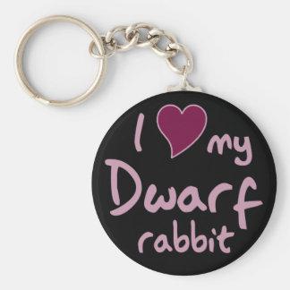 Dwarf rabbit basic round button key ring