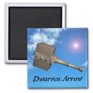 Dwarven Arrow Square Magnet