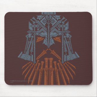 Dwarven Weapons Helmet Icon Mouse Pad
