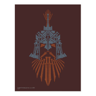 Dwarven Weapons Helmet Icon Postcard