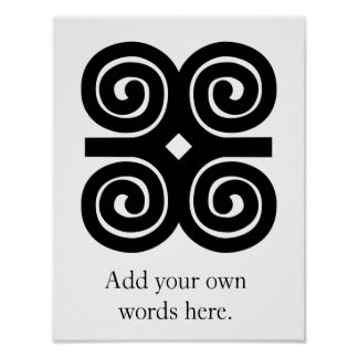 Dwennimmen - Strength and Humility Adinkra Symbol Poster