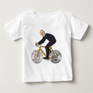 Dwight Eisenhower On Bike With Dollar Coin Wheels Baby T-Shirt