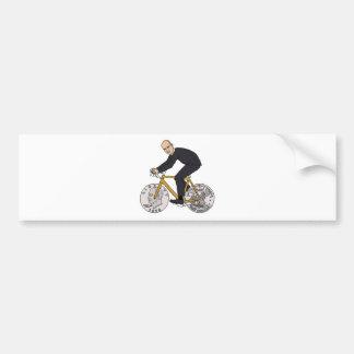 Dwight Eisenhower On Bike With Dollar Coin Wheels Bumper Sticker