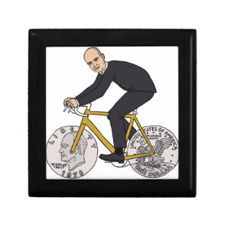 Dwight Eisenhower On Bike With Dollar Coin Wheels Gift Box