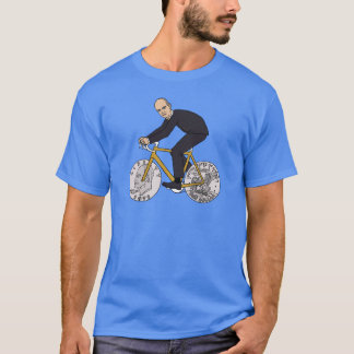 Dwight Eisenhower On Bike With Dollar Coin Wheels T-Shirt