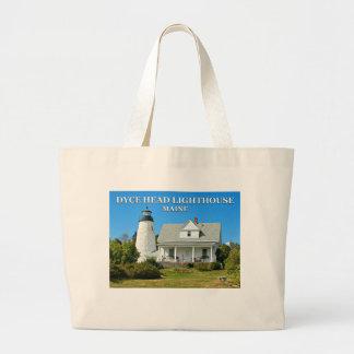 Dyce Head Lighthouse, Maine Jumbo Tote Bag