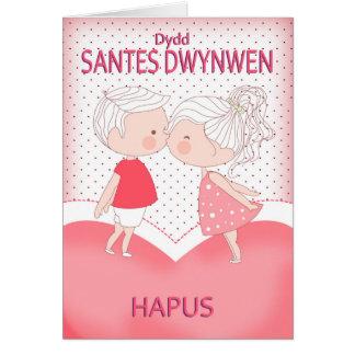 Dydd Santes Swynwen Hapus, Happy St. Dwynwen's Day Greeting Card
